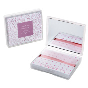 [200 Counts] Face Oil Blotting Paper Sheets with Makeup Mirror - Pink Sweetheart Printed Oil Absorbing Tissues made in Japan