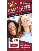 University of South Carolina (USC) Gamecocks – Waterless Peel & Stick Temporary Tattoos – 12-Piece Combo – 4 Garnet/Black Cocky C Logo & 4 Garnet/Black Cocky Logo Spirit Tattoos & 4 Eye Strips