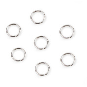 Jump Ring Sterling Silver Plated 20G 8Mm 25Pc