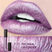 Snowfoller New Fashion Lipstick Cosmetics Women Sexy Lips Metallic Lip Gloss For Party Daily Makeup
