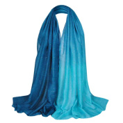 Elegant Soft Chiffon Thin Scarf Wrap Lady Shawl Stole,Gradient Colour Bling Scarf by Qisc