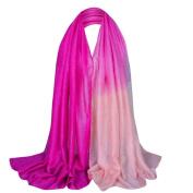 Elegant Soft Chiffon Thin Scarf Wrap Lady Shawl Stole,Gradient Colour Bling Scarf by Qisc