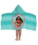 Disney Moana Cotton Hooded Cape Bath/Pool/Beach Towel, Teal Hooded Towel