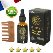 BELOVED ® HIGH QUALITY ● Beard kit with ORGANIC beard oil + FREE comb ● Beard oil POWERFUL and NON-GRASS formula ● Nourishes, moistures, softens, stimulates growth and gives shine ● 100% natural beard oil conditioner● long and short beard oil ● quality ..