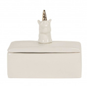 Living & Co Limited Edition Unicorn Trinket Box White/Gold