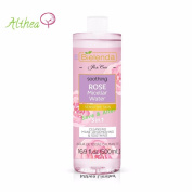 ROSE CARE Water 3 in 1 Soothing Make-Up Remover for Sensitive Skin Cleaning Toning Effect Anti-ageing Hyaluronic Acid Bielenda