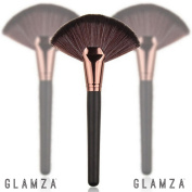 Glamza Black and Rose Gold Fan Highlight Brush Face Body Contour Blending Contouring