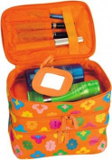 Large Cosmetic Bag with 3 Levels