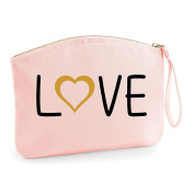 Love Word Heart Wedding Engagement Party Gift Make Up Bag - Cosmetic Canvas Case