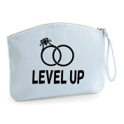 Level Up Wedding Rings Wedding Engagement Party Gift Make Up Bag - Cosmetic Canvas Case