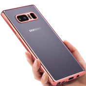 for Samsung Galaxy Note 8 Case, Samione Cover Galaxy Note 8 [Metal Electroplating Technology] Shock Resistant [Crystal Clear] Ultra-Thin Soft Gel TPU Bumper Case for Samsung Galaxy Note8