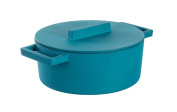 terra. Cotto Cast Iron Anis Stewing Pan with Dckl 24