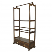 Elegant Standing Wood Coat Rack | Quilt Clothing Hall Tree Valet