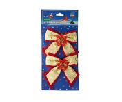 Bulk Buys SA565-24 Christmas Bow Decorations