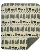 Denali Home Collection by Mont Double-Sided Reversible Throw, 130cm by 150cm , Pearl Denali Bear/Sage