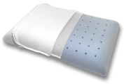 Bluewave Bedding Ultra Slim Extra Firm Gel-Infused Memory Foam Pillow, Ventilated, Hypoallergenic Thin and Flat Pillow