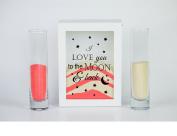 """I Love You to the Moon"" Sand Ceremony Set- Shadow Box Wedding/vow renewal - Unity Sand Ceremony Set - Beach Wedding Decor - Unity Candle Set - Sand Set"