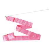Gym Dance Ribbon Rhythmic Gymnastic Streamer Rod Baton Twirling Chinese New Year Party - Pink