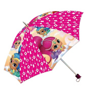 Shimmer and Shine SH17010 Children's Folding Umbrella, Travel, Polyester, 110cm