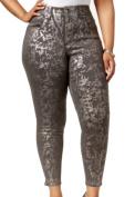 Melissa McCarthy Seven7 NEW Grey Women's Size 16W Plus Skinny Jeans