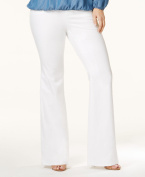 Michael Kors NEW White Women's Size 16W Plus Flare Solid Selma Jeans