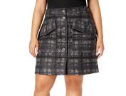 Rachel Roy NEW Grey Textured Womens Size 20W Plus Straight Pencil Skirt