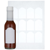 Woozy Bottle Labels - 120 Blank Hot Sauce Labels, Perfect Size For 150ml Bottles.