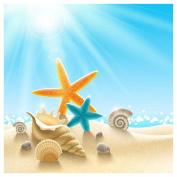 WinnerEco DIY Diamond Starfish Seaside Scene Painting Cross Stitch Needlework Craft