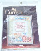 "1982 CURRENT CROSS STITCH KIT ""Forest Friends"" Baby Sampler Kit 28cm X 36cm"