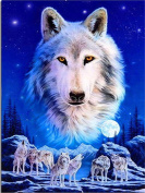 LIPHISFUN Snow Wolves Diamond Embroidery Diy Diamond Painting Square Drill Rhinestone Pasted Cross Stitch Crafts Needlework