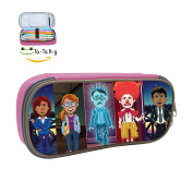 Thimbleweed Park Pencil Case Pen Bag Makeup Pouch Durable Students Cool Boys & Girls Stationery With Double Zipper