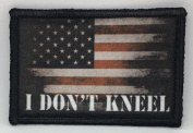 "NFL Protest ""I DON'T KNEEL"" for the Anthem USA Flag Morale Tactical Military Patch Made in the USA Perfect for your rucksack,pack bag, Molle Gear operator hat or cap! 5.1cm x 7.6cm Hook Hook and loop"
