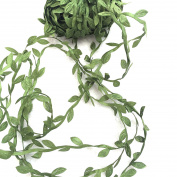 levylisa 21.8 Yards Olive Leaf Vine Ribbon, DIY Leaf Headband, Leaf Balloon Tail, DIY Leaf Crown, DIY Leaf Napkin Rings, Leaves Garland, Festival Crown
