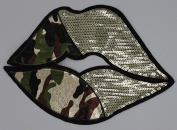 Sequin Patch: Half Army Lips