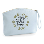 Greatest Adventure Begins Wedding Engagement Party Gift Make Up Bag - Cosmetic Canvas Case