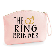 The Ring Bringer Wedding Engagement Party Gift Make Up Bag - Cosmetic Canvas Case