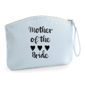 Mother Of The Bride Hearts Wedding Engagement Party Gift Make Up Bag - Cosmetic Canvas Case