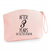 After Custom Any Number Anniversary Years Personalised Wedding Engagement Party Gift Make Up Bag - Cosmetic Canvas Case