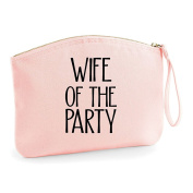 Wife Of The Party Wedding Engagement Party Gift Make Up Bag - Cosmetic Canvas Case