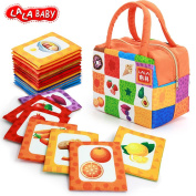 NEEDOON Baby Toy 26pcs Soft Cards Toddler Early Education Interactive Game with Colourful Storage Bag,B