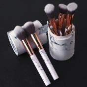 10Pcs Marble Eyebrow Makeup Brush Professional Beauty Makeup Tool Set PU Leather Bucket Makeup Cosmetic Brushes Greatlizard