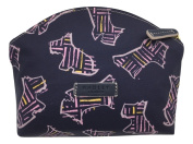 Radley 'Kenwood' small cosmetic case make up bag oilskin navy