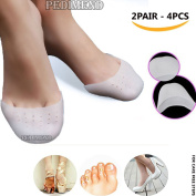 PEDIMEND Silicone Gel Pointe Shoes Toe Pads (2PAIRS – 4PCS) - Toe Protector with Breathable Hole for Ballet Dancer – Alleviates tension – Improve Foot Strength - Increase Circulation - Avoid Friction & Provide Cushioning to Feet - Foot Care