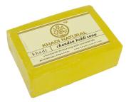 Khadi India Natural Chandan Haldi Soap Handmade Herbal Soap - 125 gm