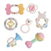 Goolsky GOODWAY 3207 Baby Hand Rattles Kit Teether Bed Bell Toys Kids Happy Buddy Newborns Gift