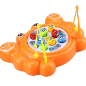 Balai Fishing Game Magentic Fishing Board Game Toy Playset with Roating Fish pool and Music