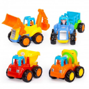 potato001 Baby Mini Toy Push Friction Car Tractor Bulldozer Mixer Truck Child Kids