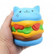Slow Rising Toys,ABCsell Soft Jumbo Cartoon Cat Hamburger Cartoon Squishy Slow Rising Squeeze Toy