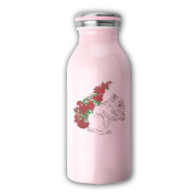 Accoutrements Squirrel Nuts In Rose Milk Bottle Stainless Steel Water Bottle Double Wall Vacuum Insulated Fashion WHENLUCKY