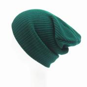 Beanie Knit Hat - Wool Blend Cap- For Women or Men designed by Qisc 28cm 19cm